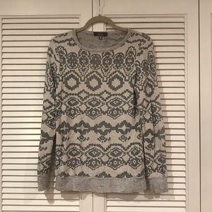 Light grey crew neck sweatshirt